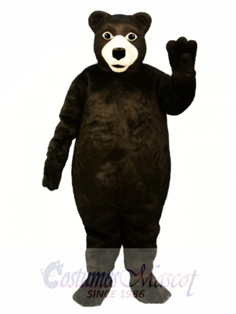 Fat Brown Bear Mascot Costume