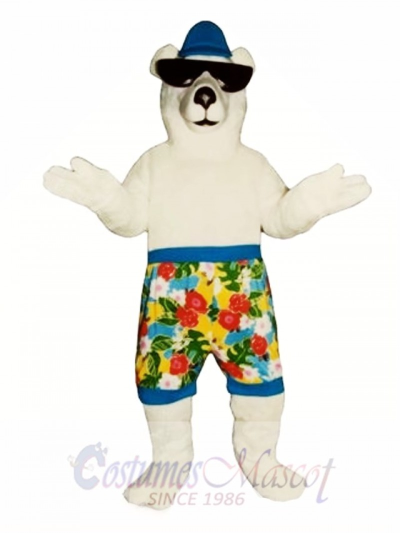 New Beach Bear with Shorts Mascot Costume