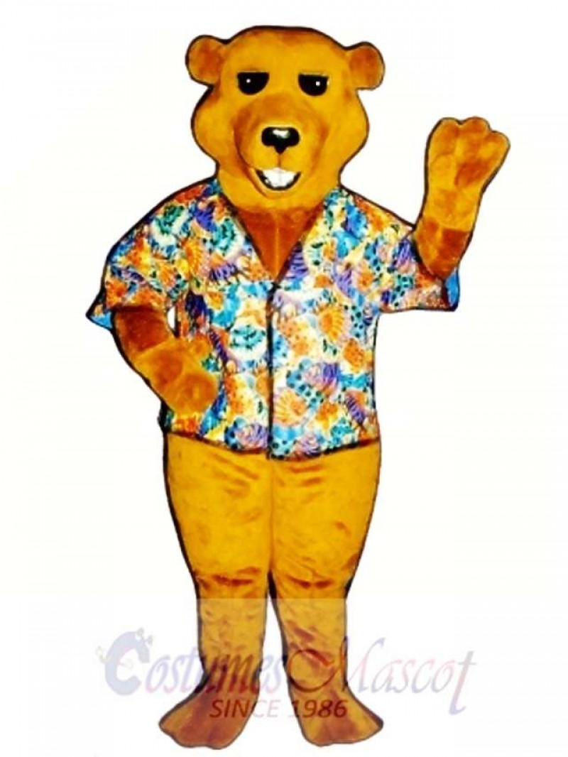New Barry Bear with Shirt Mascot Costume
