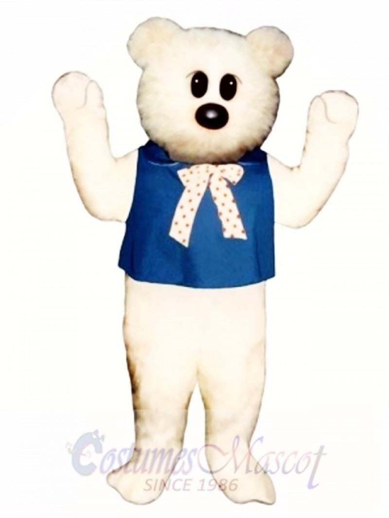 Kindergarten Bear with Bib & Tie Mascot Costume