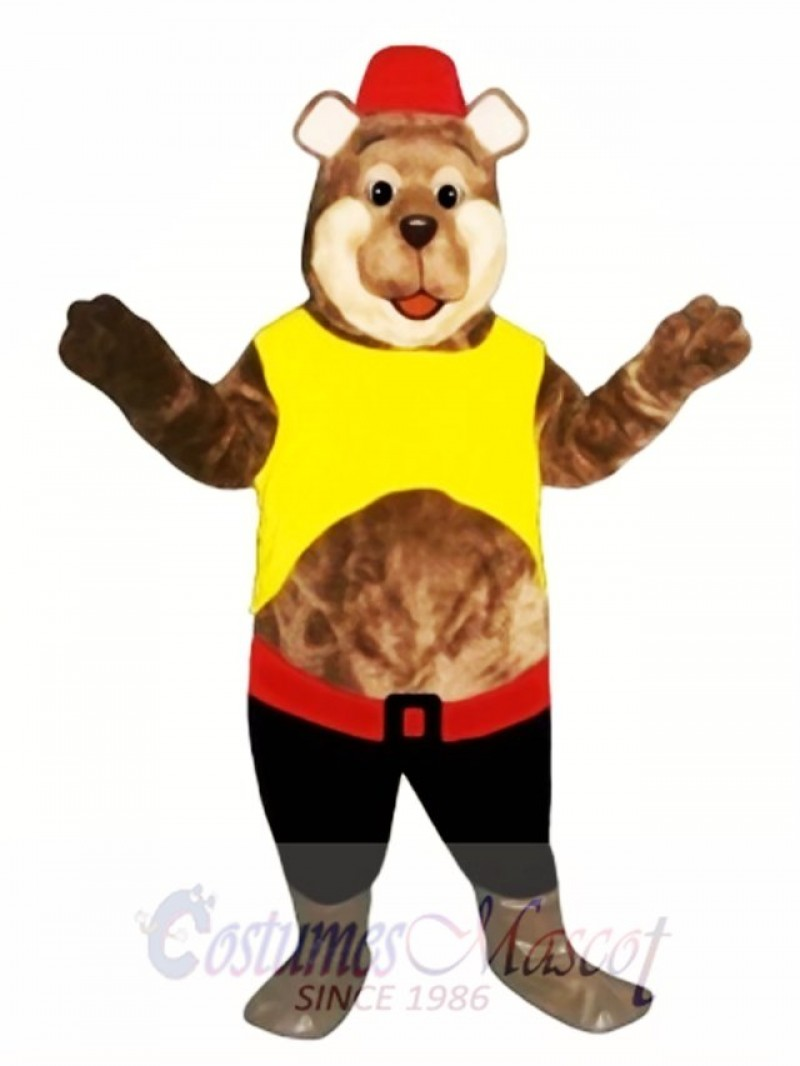 Good Ole Boy Bear Mascot Costume