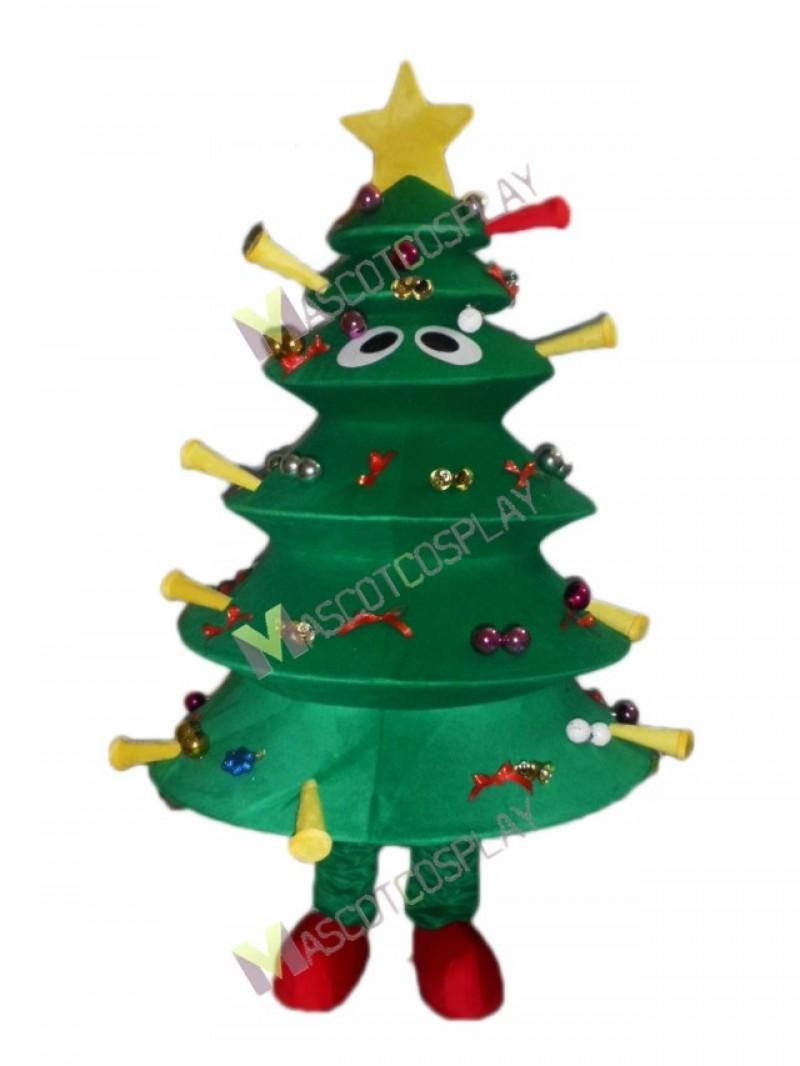 Christmas Tree Mascot Costume Xmas Green Tree Mascot