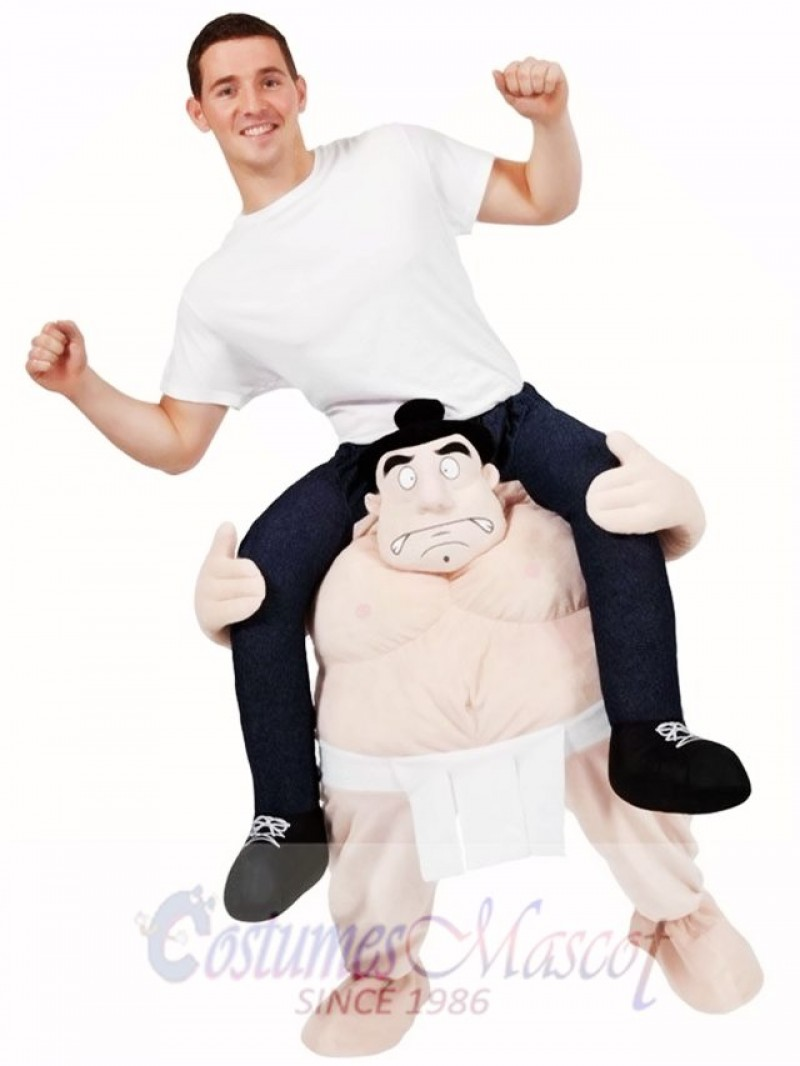 Carry Me Japanese Sumo Costume Wrestler Ride On Piggy Back Mascot Costume
