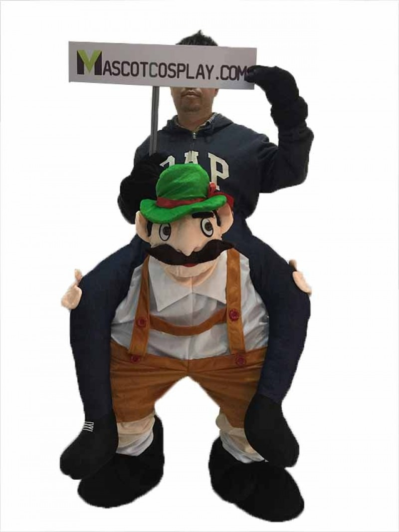 Piggy Back Bavarian Oktoberfest Beer Guy Carry Me Ride On Stag Mascot Costume
