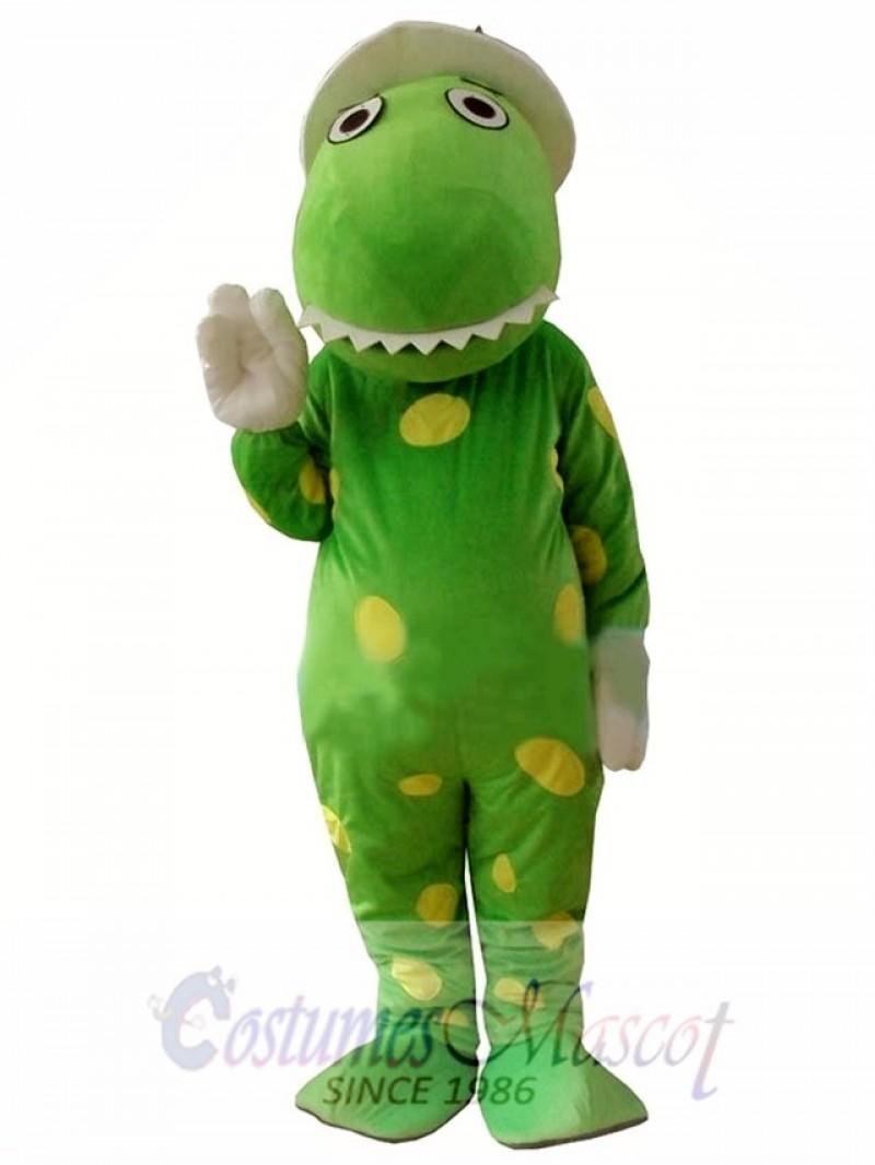 Green Wiggles Dorothy The Dinosaur Adult Mascot Costume