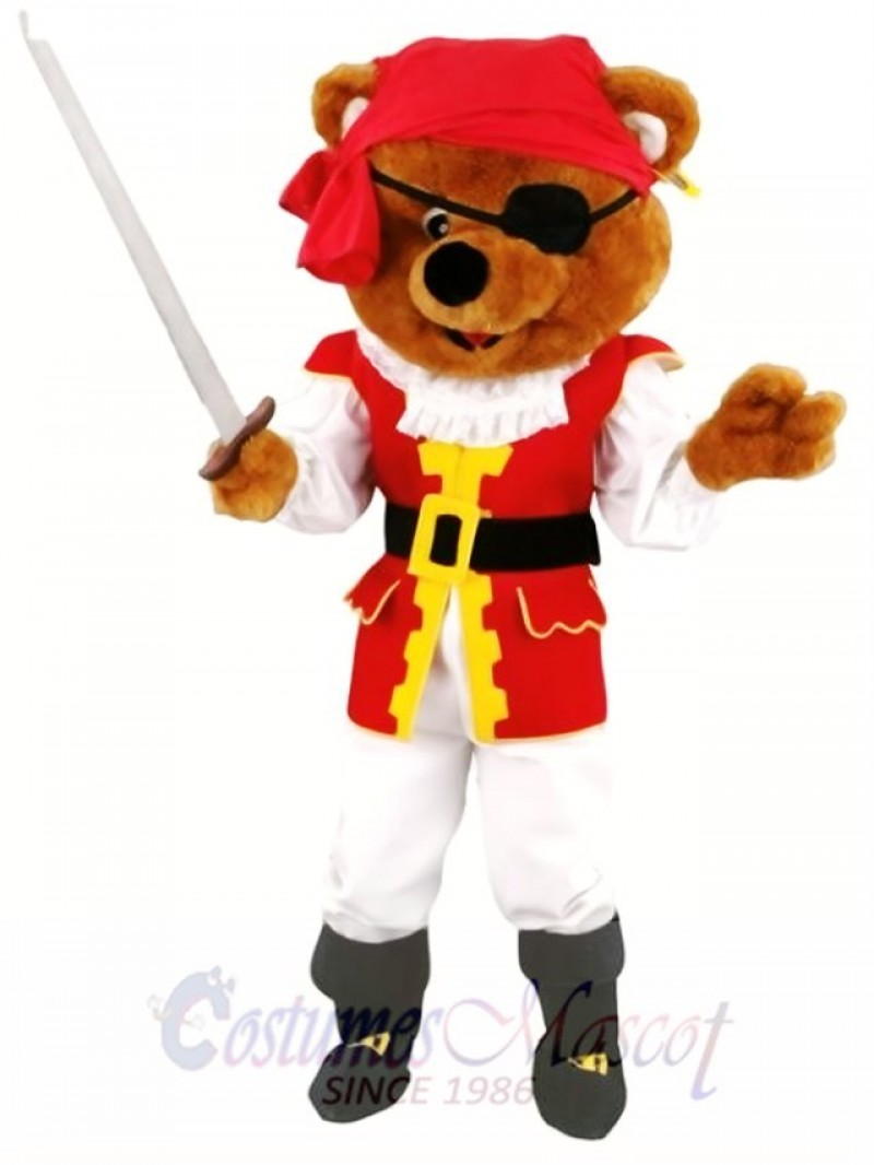 Pirates Brown Bear Mascot Costume