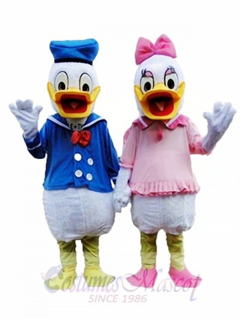 Adult One Pair of Donald Duck and Daisy Mascot Costumes