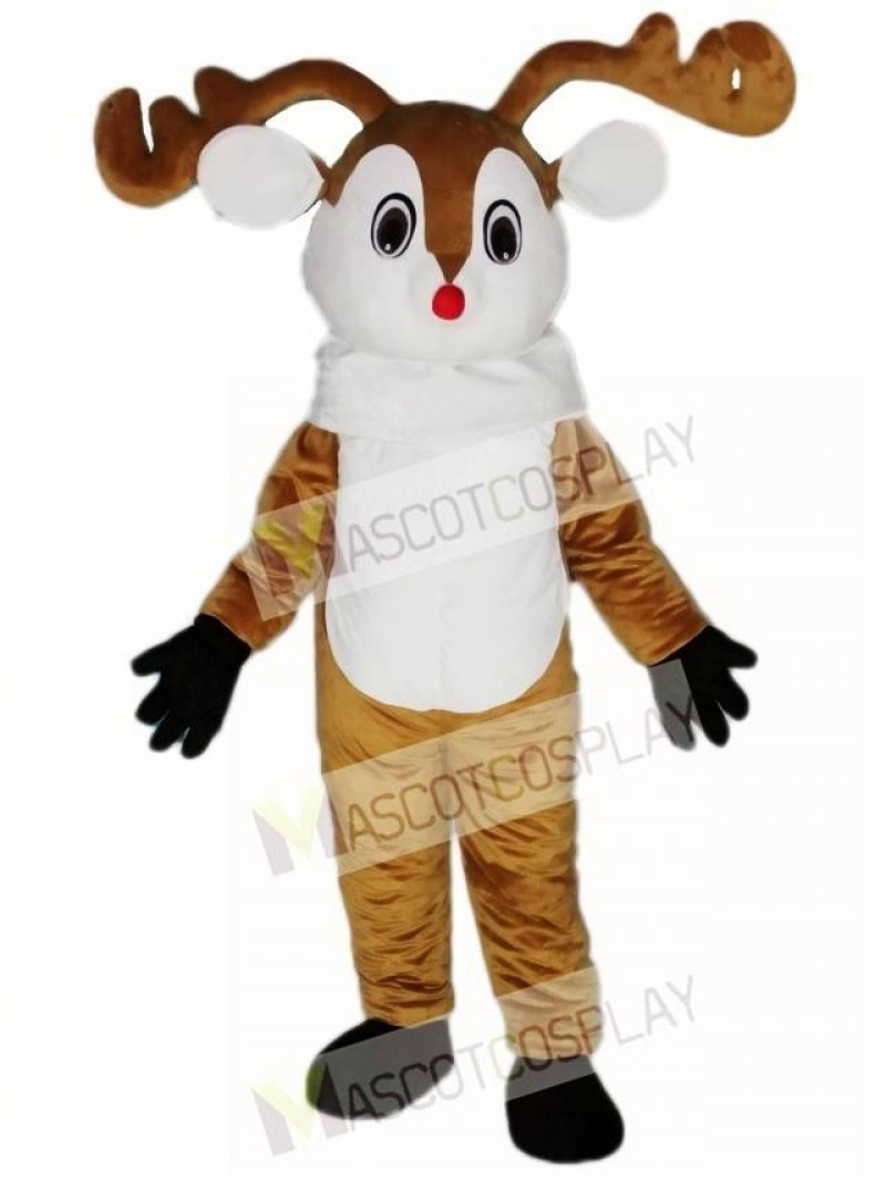 Red Nose Deer Mascot Costume Adult Deer Costume