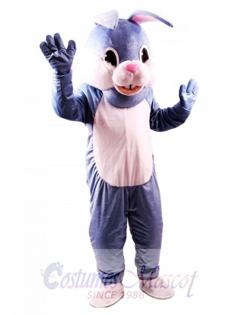 Blue Easter Bunny Mascot Costume