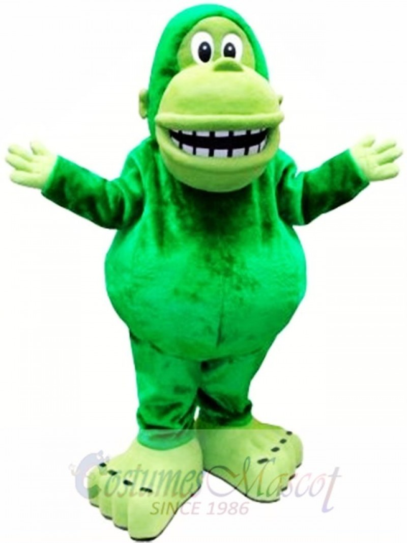 Green Big Mouth Gorilla Mascot Costume