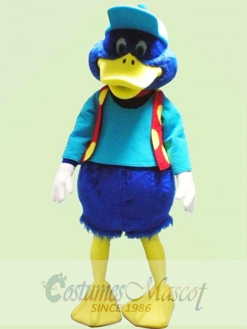 Cute Blue Duck Mascot Costume