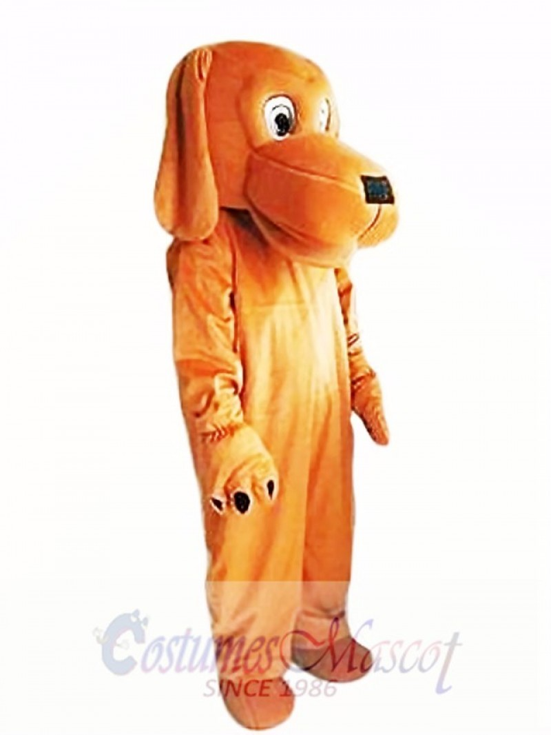 Loyal and Tame Brown Dog Mascot Costume