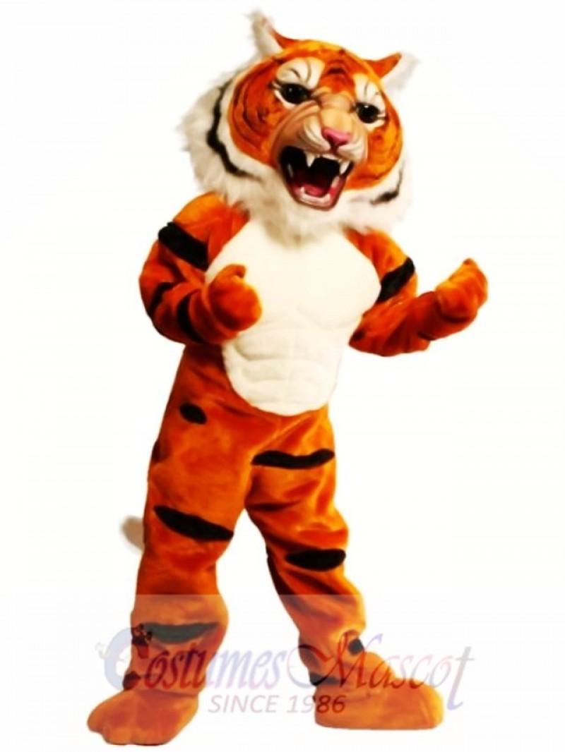 Super Muscle Tiger Mascot Costume