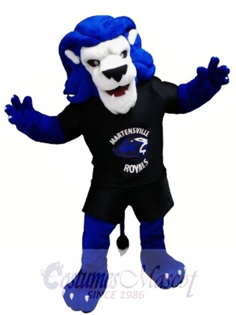 Blue Lion Animal Mascot Costume