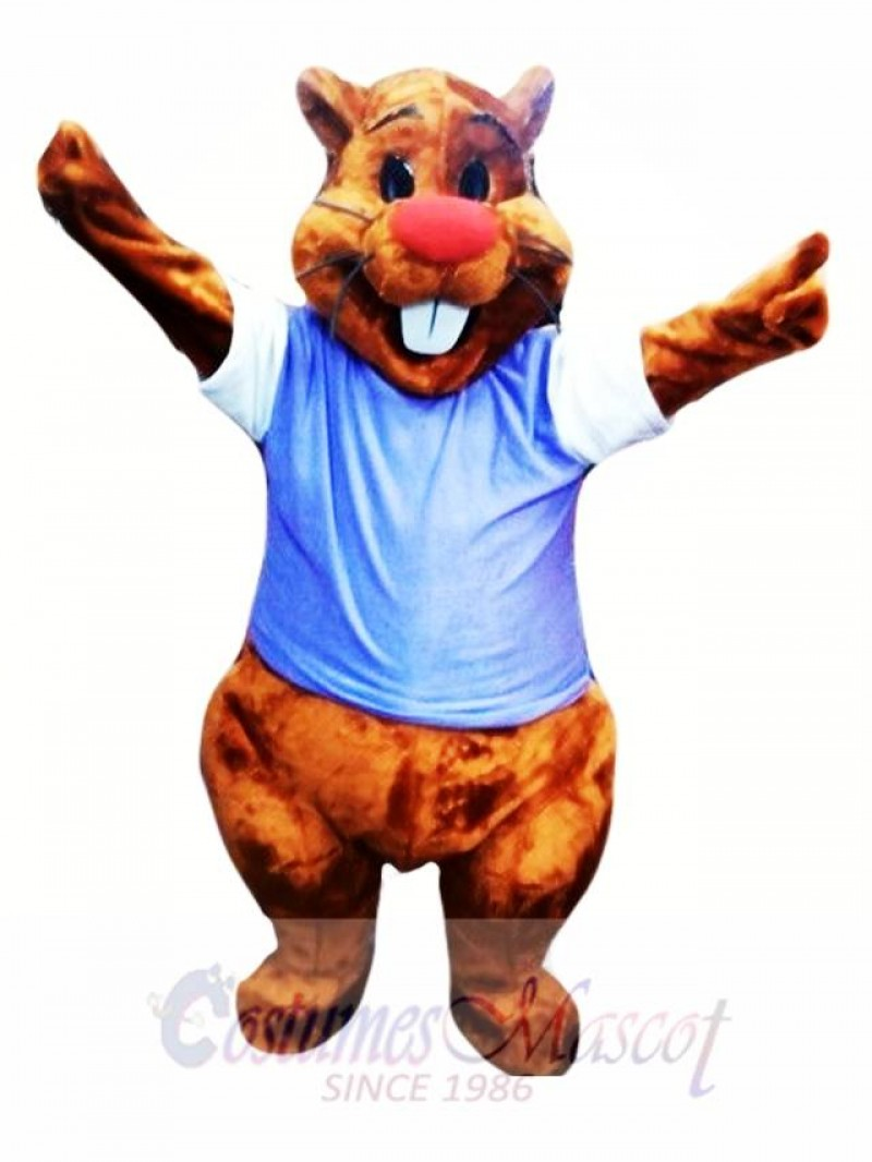Cute Adult Beaver Mascot Costume