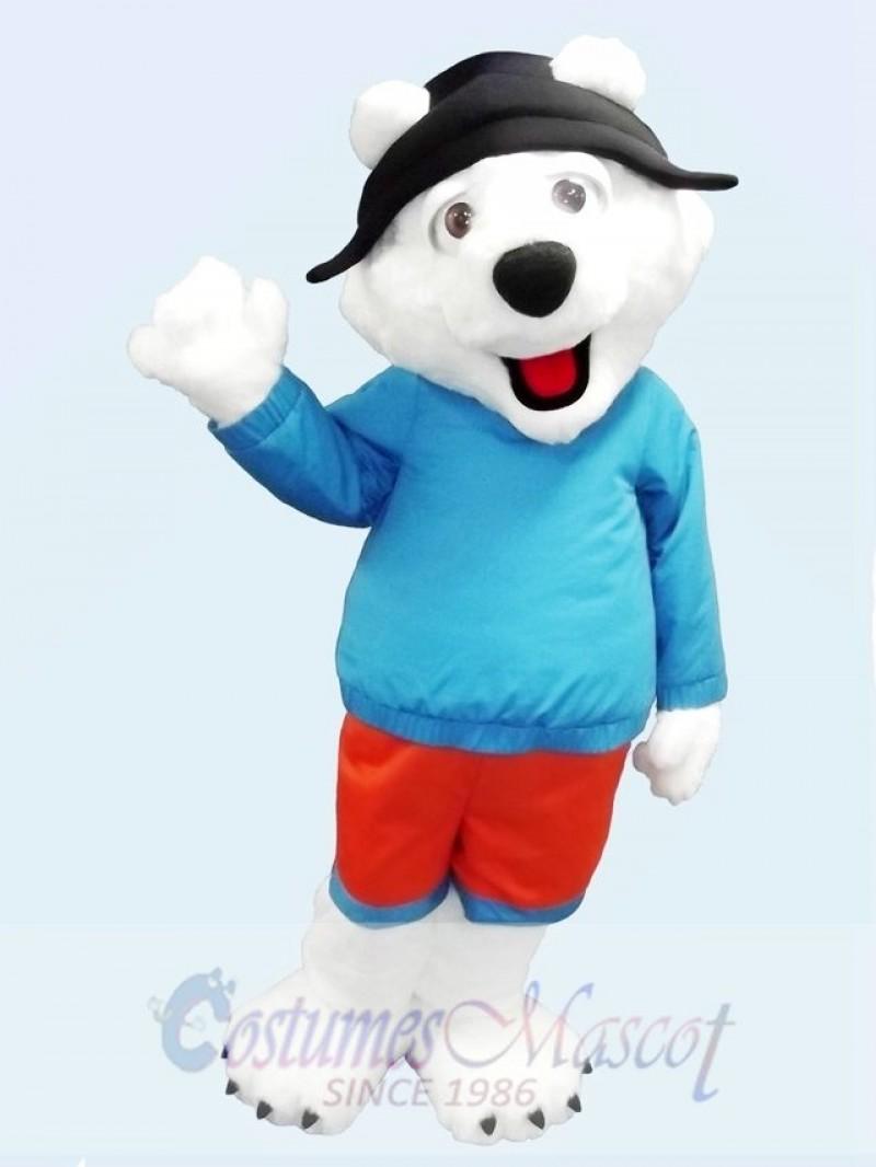 Cute Friendly Polar Bear Mascot Costume