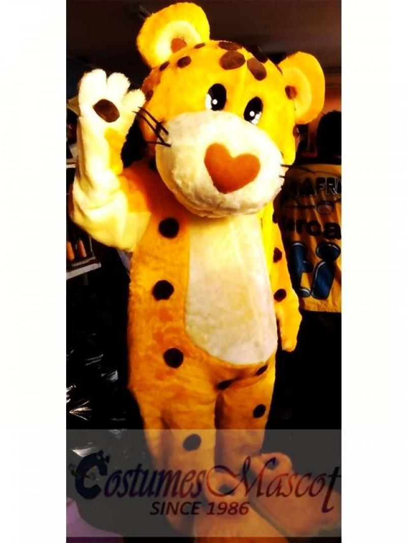 Cute Cheetah Mascot Costume