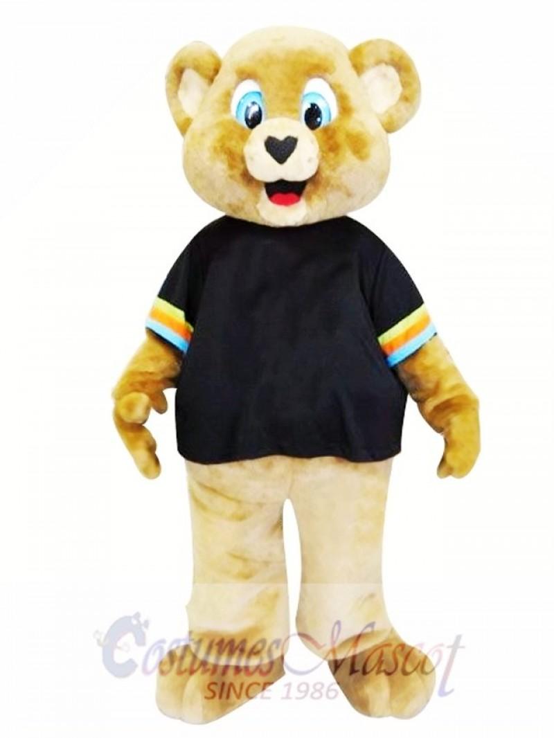 Cute Brown Bear Mascot Costume