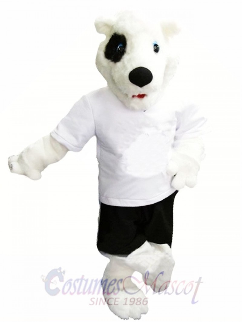 Cute White Bear Mascot Costume