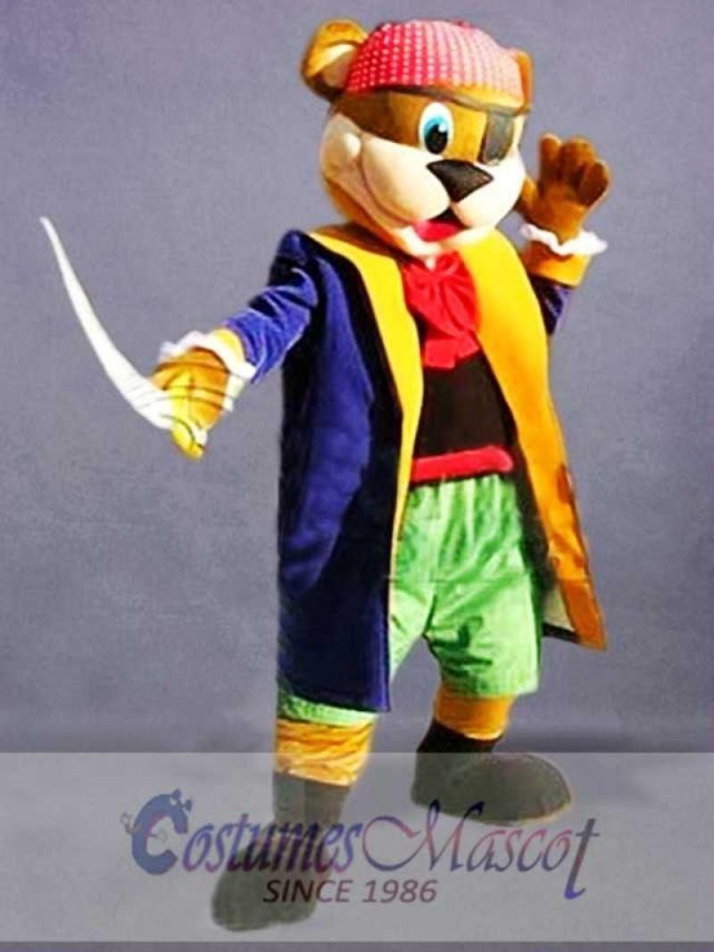 Pirate Bear Mascot Costume