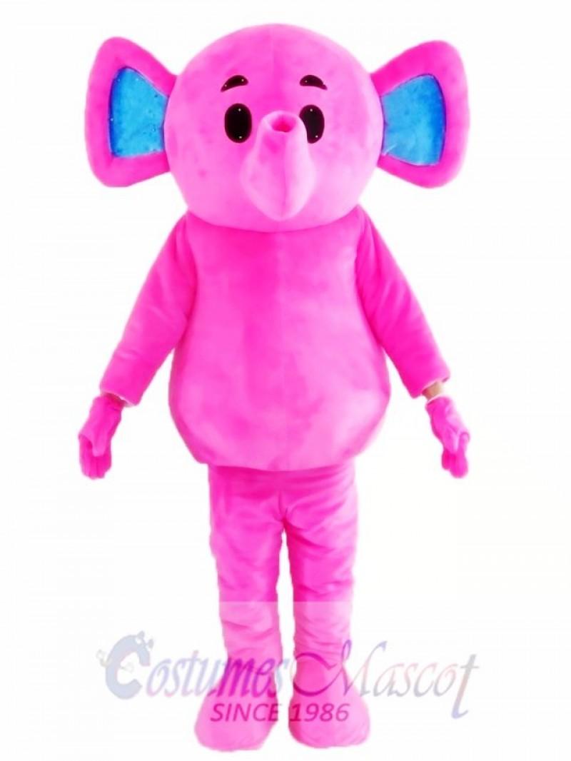 Cute Pink Elephant Mascot Costume