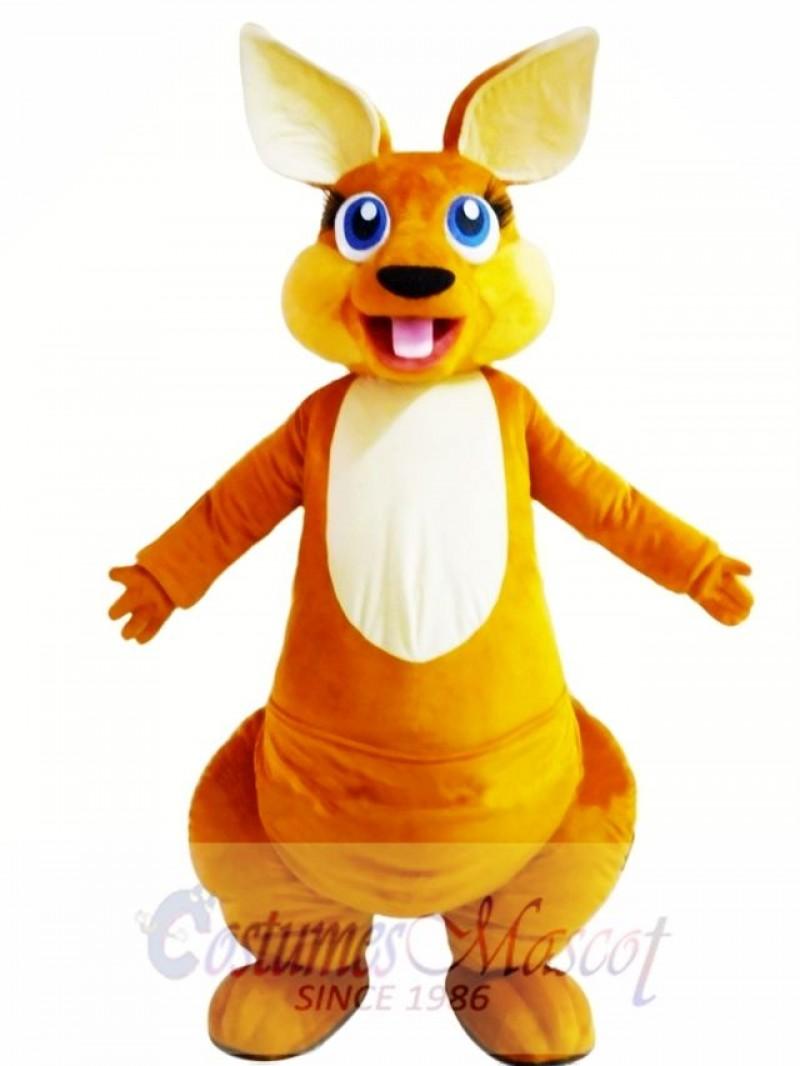 Happy Adult Kangaroo Mascot Costume