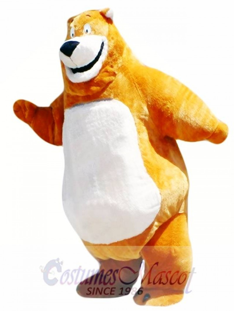 Happy Brown Bear Mascot Costume