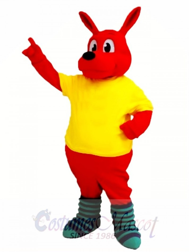 Cute Red Kangaroo Mascot Costume