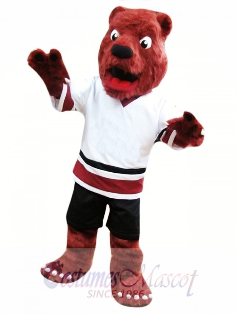 Red Bear Mascot Costume