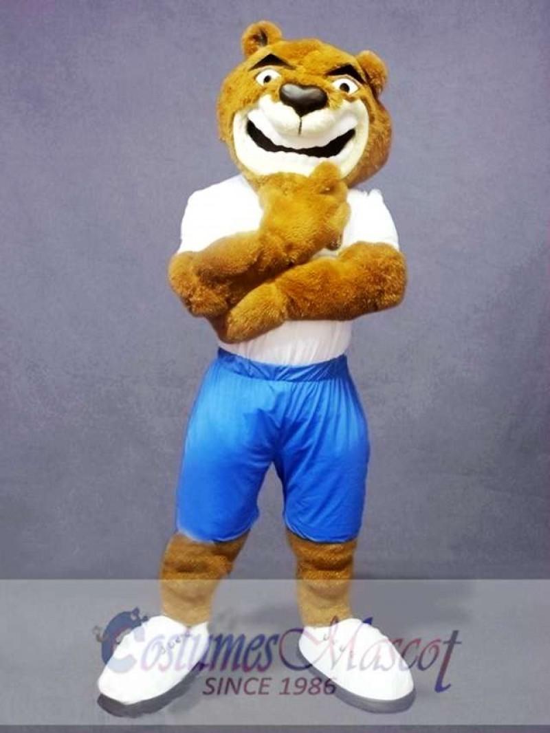 Confident Bear Mascot Costume