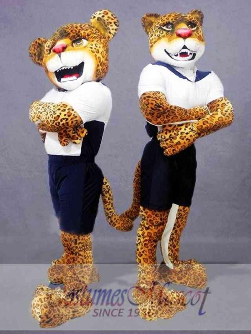 Single Power Jaguar Mascot Costume