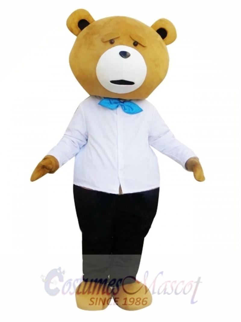 Teddy Bear Cartoon Mascot Costume