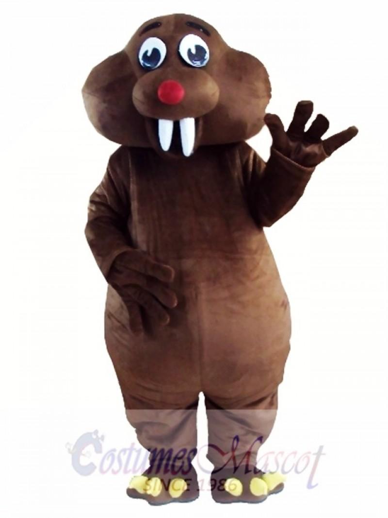 Brown Mole Mouse Mascot Costume