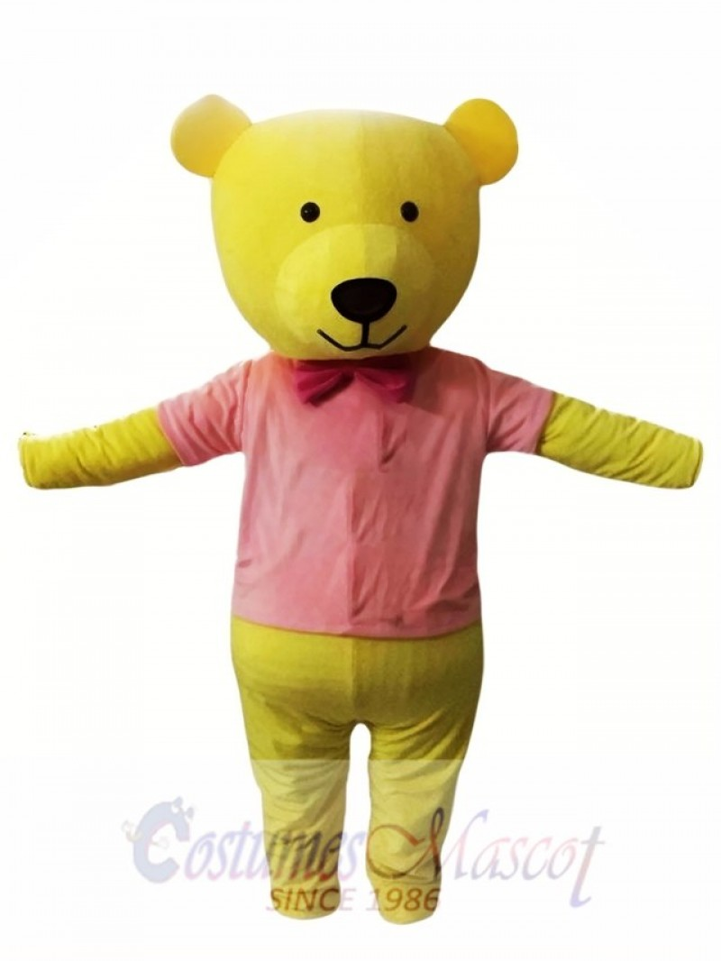 Yellow Bear Mascot Costume