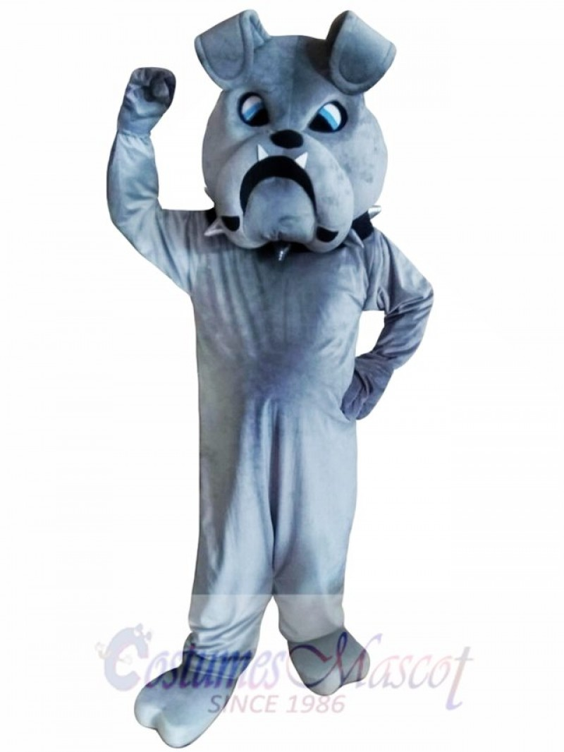 Grey Bulldog Mascot Costumes
