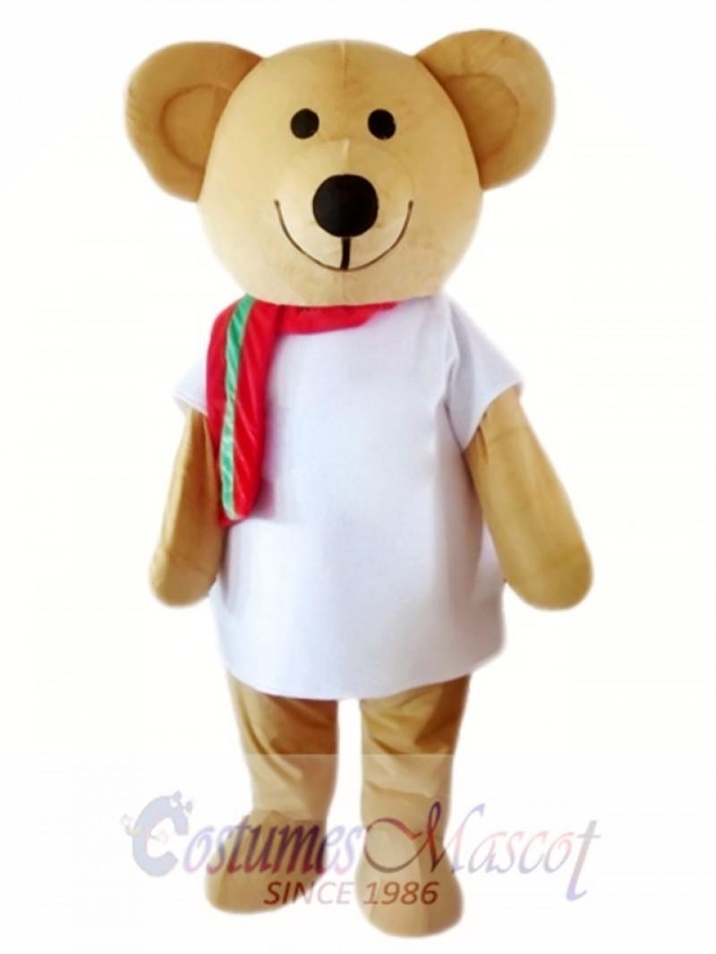 Cartoon Character Brown Bear Mascot Costume