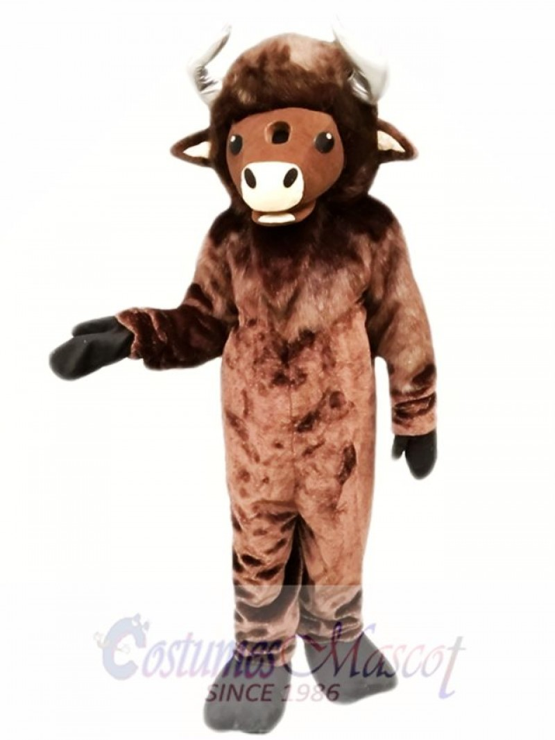 Brown Buffalo Mascot Costume