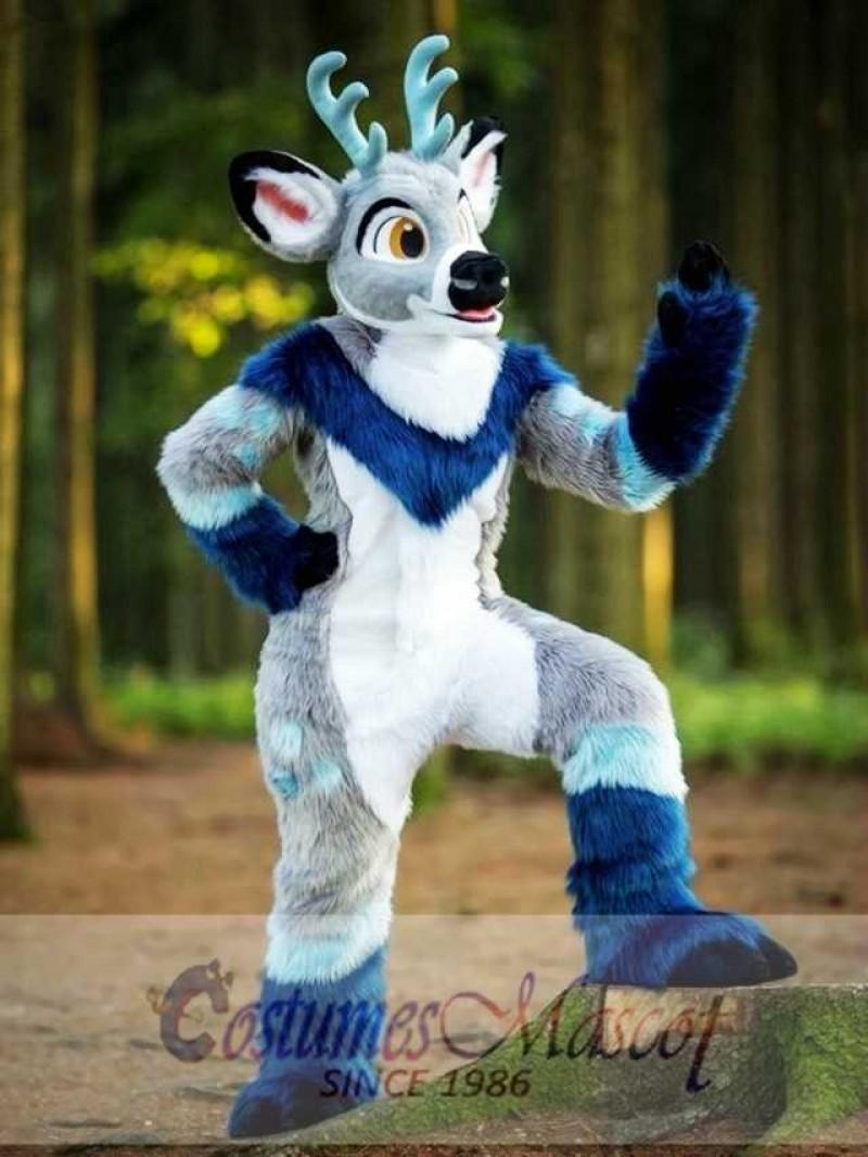 Lovely Cartoon Deer Adult Mascot Costume Christmas