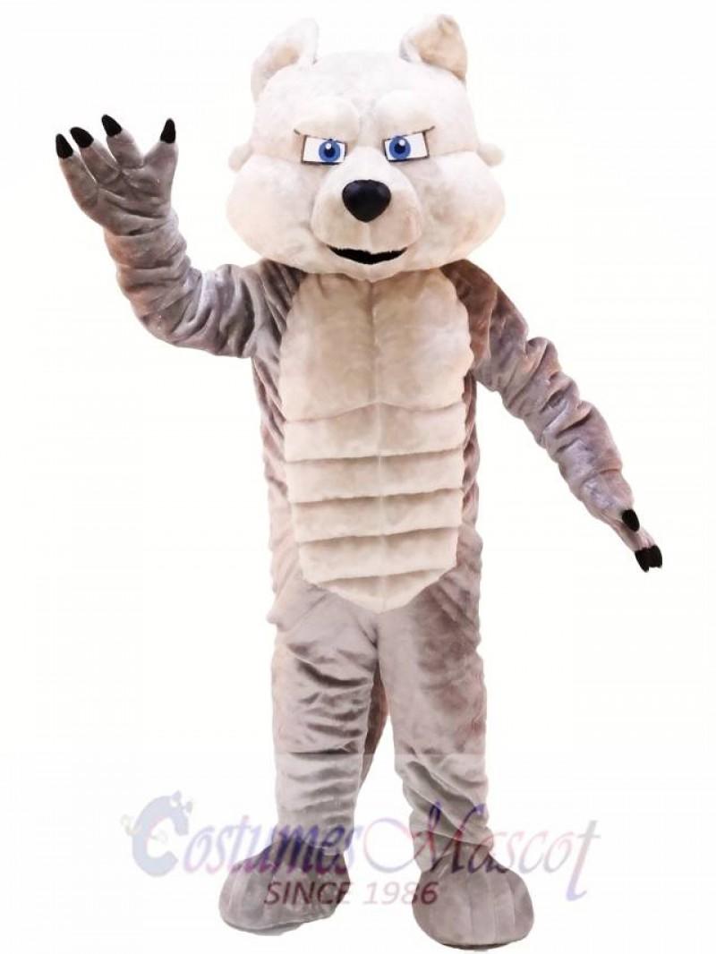 Grey Power Wolf Mascot Costume