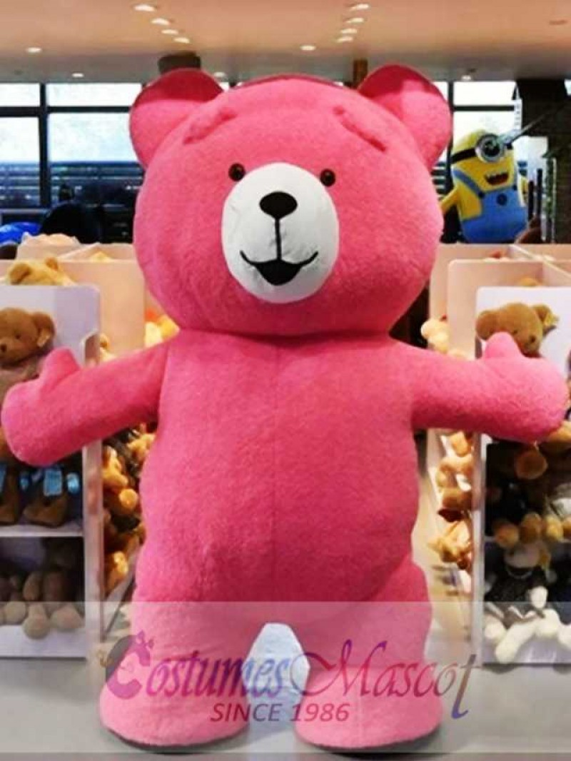 Cute Red Teddy Bear Mascot Costume Animal Costume