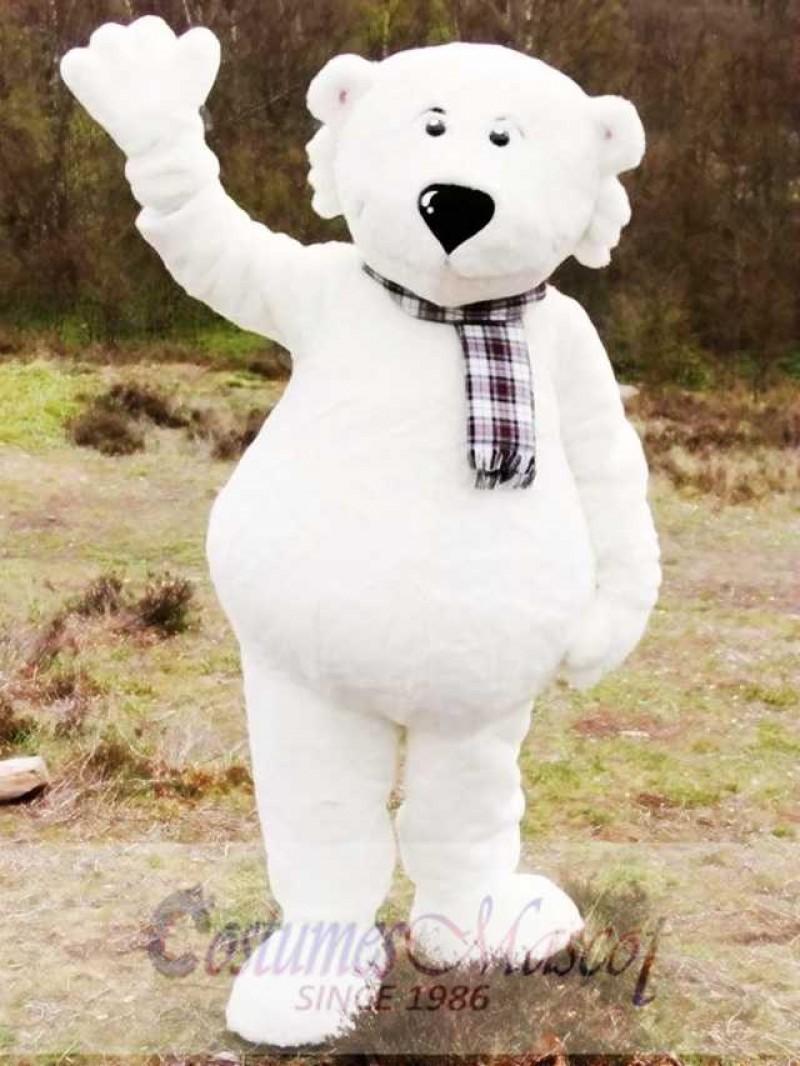 White Walker Polar Bear Mascot Costume