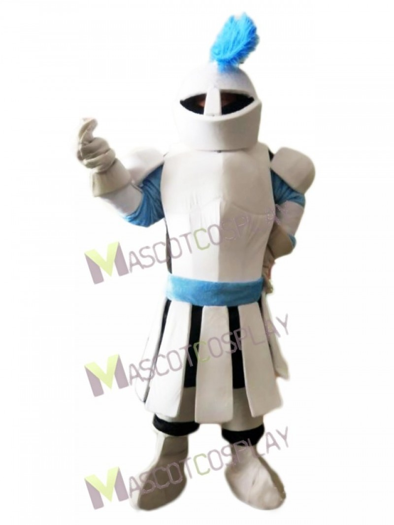 High Quality Adult White Soldier Knight Mascot Costume