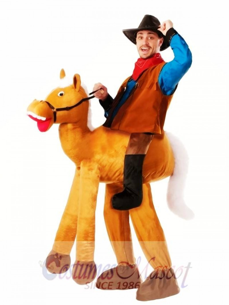 Piggyback Pony Horse Carry Me Ride Horse Mascot Costume