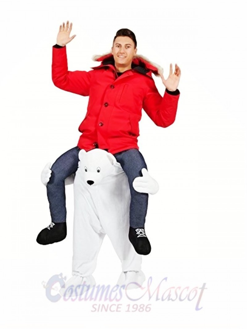 Polar Bear Carry Me Mascot Costume White Bear Mascot