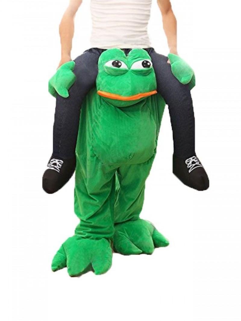 Piggy Back Frog Carry Me Sad Frog Mascot Costume Halloween Fancy Dress