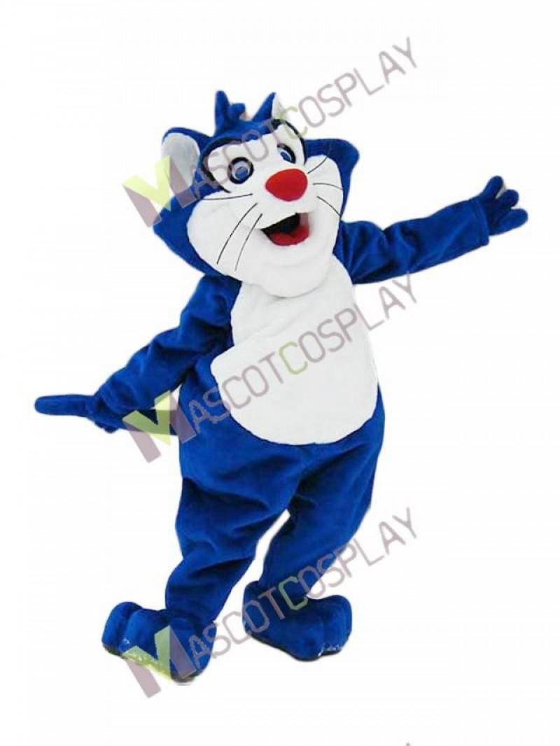 Custom Color Blue Fat Cat Mascot Costume