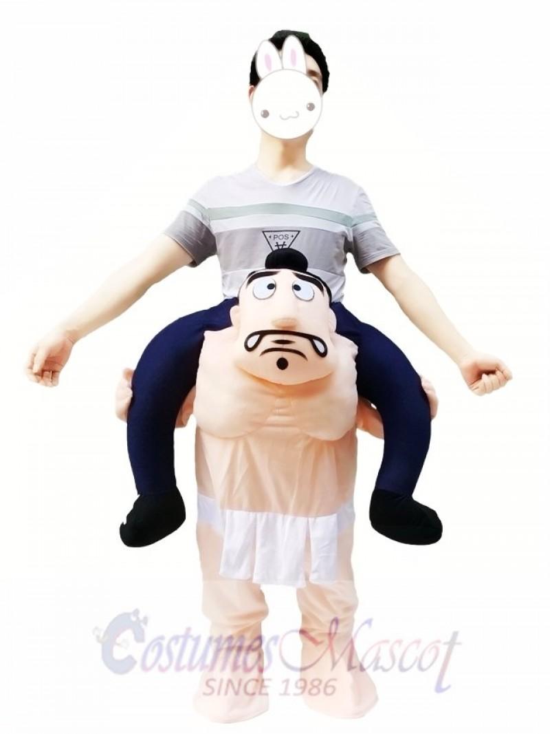 Carry Me Japanese Sumo Wrestling Costume Wrestler Piggy Back Mascot Costume