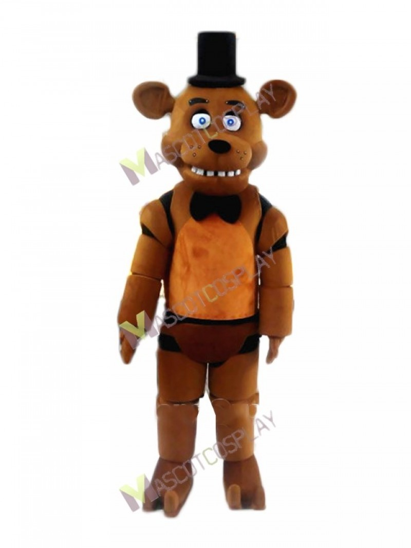 High Quality Adult FNAF Five Nights At Freddy's Freddy Fazbear Bear Mascot Costume