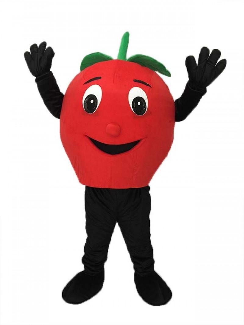 Big Red Apple Mascot Costume