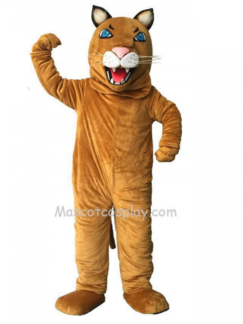 New Brown Cougar Mascot Costume